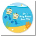 Under the Sea Asian Baby Boy Twins Snorkeling - Personalized Baby Shower Table Confetti thumbnail