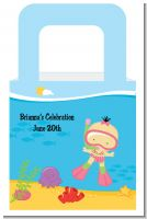 Under the Sea Asian Baby Girl Snorkeling - Personalized Baby Shower Favor Boxes