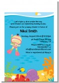 Under the Sea Asian Baby Girl Snorkeling - Baby Shower Petite Invitations