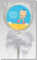 Under the Sea Asian Baby Girl Snorkeling - Personalized Baby Shower Lollipop Favors