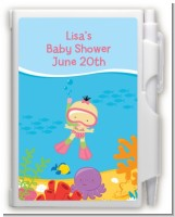 Under the Sea Asian Baby Girl Snorkeling - Baby Shower Personalized Notebook Favor