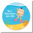 Under the Sea Asian Baby Girl Snorkeling - Personalized Baby Shower Table Confetti thumbnail