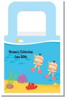 Under the Sea Asian Baby Girl Twins Snorkeling - Personalized Baby Shower Favor Boxes