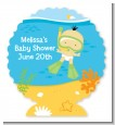 Under the Sea Asian Baby Snorkeling - Personalized Baby Shower Centerpiece Stand thumbnail