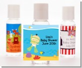 Under the Sea Asian Baby Snorkeling - Personalized Baby Shower Hand Sanitizers Favors