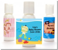 Under the Sea Asian Baby Snorkeling - Personalized Baby Shower Lotion Favors