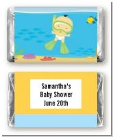 Under the Sea Asian Baby Snorkeling - Personalized Baby Shower Mini Candy Bar Wrappers