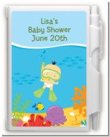 Under the Sea Asian Baby Snorkeling - Baby Shower Personalized Notebook Favor