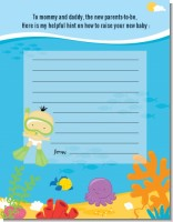 Under the Sea Asian Baby Snorkeling - Baby Shower Notes of Advice