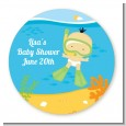 Under the Sea Asian Baby Snorkeling - Personalized Baby Shower Table Confetti thumbnail
