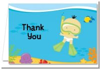 Under the Sea Asian Baby Snorkeling - Baby Shower Thank You Cards