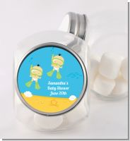 Under the Sea Asian Baby Twins Snorkeling - Personalized Baby Shower Candy Jar