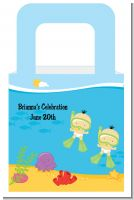 Under the Sea Asian Baby Twins Snorkeling - Personalized Baby Shower Favor Boxes