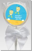 Under the Sea Asian Baby Twins Snorkeling - Personalized Baby Shower Lollipop Favors