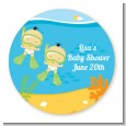 Under the Sea Asian Baby Twins Snorkeling - Personalized Baby Shower Table Confetti thumbnail