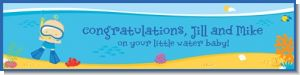 Under the Sea Baby Boy Snorkeling - Personalized Baby Shower Banners