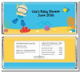 Under the Sea Baby Boy Snorkeling - Personalized Baby Shower Candy Bar Wrappers