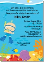Under the Sea Baby Boy Snorkeling - Baby Shower Invitations