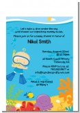 Under the Sea Baby Boy Snorkeling - Baby Shower Petite Invitations