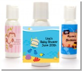 Under the Sea Baby Boy Snorkeling - Personalized Baby Shower Lotion Favors