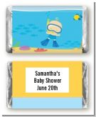 Under the Sea Baby Boy Snorkeling - Personalized Baby Shower Mini Candy Bar Wrappers