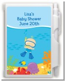 Under the Sea Baby Boy Snorkeling - Baby Shower Personalized Notebook Favor