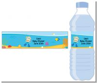 Under the Sea Baby Boy Snorkeling - Personalized Baby Shower Water Bottle Labels