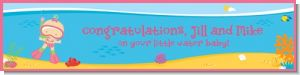 Under the Sea Baby Girl Snorkeling - Personalized Baby Shower Banners