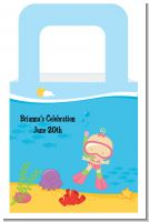 Under the Sea Baby Girl Snorkeling - Personalized Baby Shower Favor Boxes