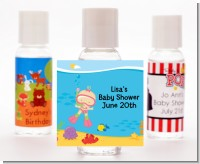 Under the Sea Baby Girl Snorkeling - Personalized Baby Shower Hand Sanitizers Favors