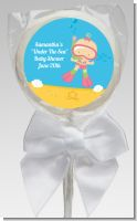 Under the Sea Baby Girl Snorkeling - Personalized Baby Shower Lollipop Favors