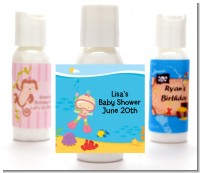 Under the Sea Baby Girl Snorkeling - Personalized Baby Shower Lotion Favors