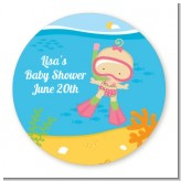 Under the Sea Baby Girl Snorkeling - Personalized Baby Shower Table Confetti
