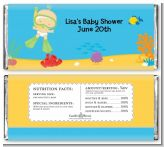 Under the Sea Baby Snorkeling - Personalized Baby Shower Candy Bar Wrappers