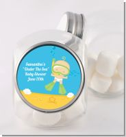 Under the Sea Baby Snorkeling - Personalized Baby Shower Candy Jar