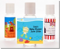 Under the Sea Baby Snorkeling - Personalized Baby Shower Hand Sanitizers Favors