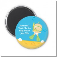 Under the Sea Baby Snorkeling - Personalized Baby Shower Magnet Favors