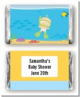 Under the Sea Baby Snorkeling - Personalized Baby Shower Mini Candy Bar Wrappers