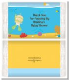 Under the Sea Baby Snorkeling - Personalized Popcorn Wrapper Baby Shower Favors