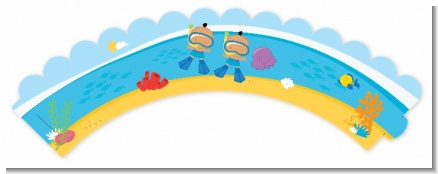 Under the Sea Hispanic Baby Boy Twins Snorkeling - Baby Shower Cupcake Wrappers