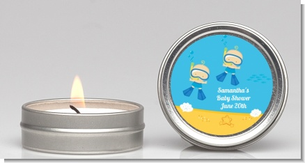 Under the Sea Baby Twin Boys Snorkeling - Baby Shower Candle Favors