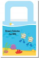 Under the Sea Baby Twin Boys Snorkeling - Personalized Baby Shower Favor Boxes
