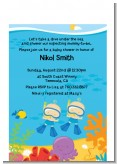 Under the Sea Baby Twin Boys Snorkeling - Baby Shower Petite Invitations
