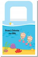 Under the Sea Baby Twin Girls Snorkeling - Personalized Baby Shower Favor Boxes