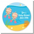 Under the Sea Baby Twin Girls Snorkeling - Personalized Baby Shower Table Confetti thumbnail