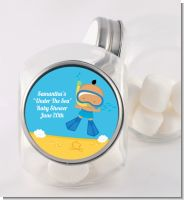 Under the Sea Hispanic Baby Boy Snorkeling - Personalized Baby Shower Candy Jar
