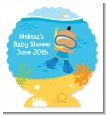Under the Sea Hispanic Baby Boy Snorkeling - Personalized Baby Shower Centerpiece Stand thumbnail