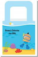 Under the Sea Hispanic Baby Boy Snorkeling - Personalized Baby Shower Favor Boxes