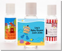 Under the Sea Hispanic Baby Boy Snorkeling - Personalized Baby Shower Hand Sanitizers Favors