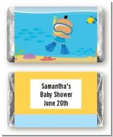 Under the Sea Hispanic Baby Boy Snorkeling - Personalized Baby Shower Mini Candy Bar Wrappers